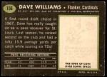 1969 Topps #156  Dave Williams  Back Thumbnail