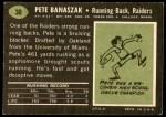 1969 Topps #30  Pete Banaszak  Back Thumbnail