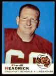 1969 Topps #9  Sherrill Headrick  Front Thumbnail