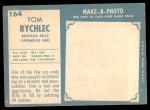 1961 Topps #164  Tom Rychlec  Back Thumbnail