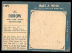 1961 Topps #149  Al Dorow  Back Thumbnail