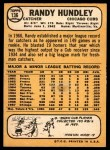 1968 Topps #136  Randy Hundley  Back Thumbnail