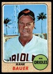 1968 Topps #513  Hank Bauer  Front Thumbnail