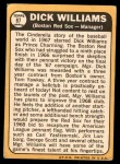 1968 Topps #87  Dick Williams  Back Thumbnail