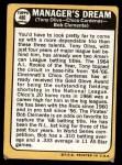 1968 Topps #480   -  Tony Oliva / Leo 'Chico' Cardenas / Roberto Clemente Manager's Dream Back Thumbnail
