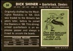 1969 Topps #64  Dick Shiner  Back Thumbnail