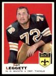 1969 Topps #196  Earl Leggett  Front Thumbnail