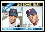 1966 Topps #563   -  Cesar Tovar / Pete Cimino Twins Rookies Front Thumbnail