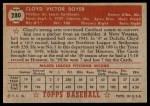 1952 Topps #280  Cloyd Boyer  Back Thumbnail