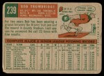 1959 Topps #239  Bob Trowbridge  Back Thumbnail