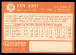 1964 Topps #294  Ken Hunt  Back Thumbnail