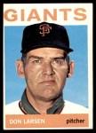 1964 Topps #513  Don Larsen  Front Thumbnail