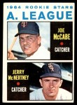 1964 Topps #564   -  Jerry McNertney / Joe McCabe American League Rookies Front Thumbnail