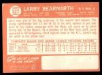 1964 Topps #527  Larry Bearnarth  Back Thumbnail