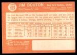1964 Topps #470  Jim Bouton  Back Thumbnail