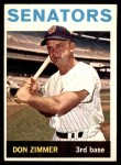 1964 Topps #134  Don Zimmer  Front Thumbnail