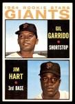 1964 Topps #452   -  Jim Ray Hart / Gil Garrido Giants Rookies Front Thumbnail