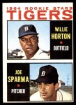1964 Topps #512   -  Willie Horton / Joe Sparma Tigers Rookies Front Thumbnail