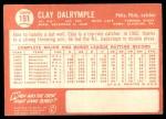 1964 Topps #191  Clay Dalrymple  Back Thumbnail