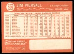 1964 Topps #586  Jimmy Piersall  Back Thumbnail