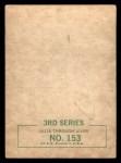 1964 Topps Beatles Black and White #153  George Harrison  Back Thumbnail