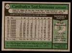 1979 Topps #510  Ted Simmons  Back Thumbnail