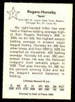 1961 Golden Press #7  Rogers Hornsby  Back Thumbnail