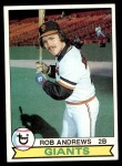 1979 Topps #34  Rob Andrews  Front Thumbnail
