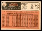 1966 Topps #110  Ernie Banks  Back Thumbnail