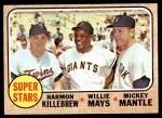 1968 Topps #490   -  Mickey Mantle / Willie Mays / Harmon Killebrew Super Stars Front Thumbnail
