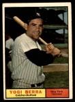 1961 Topps #425  Yogi Berra  Front Thumbnail