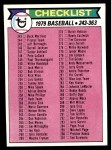 1979 Topps #353   Checklist 3 Front Thumbnail