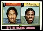 1974 Topps #328   -  O.J. Simpson / John Brockington  Rushing Leaders Front Thumbnail