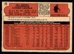 1972 O-Pee-Chee #25  Bill Singer  Back Thumbnail