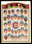 1972 O-Pee-Chee #192   Cubs Team Front Thumbnail