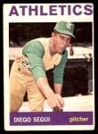 1964 Topps #508  Diego Segui  Front Thumbnail