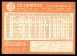 1964 Topps #475  Ed Charles  Back Thumbnail