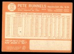 1964 Topps #121 xSPT Pete Runnels  Back Thumbnail