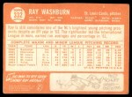 1964 Topps #332  Ray Washburn  Back Thumbnail
