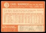1964 Topps #179  Carl Warwick  Back Thumbnail