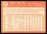 1964 Topps #90  Earl Battey  Back Thumbnail