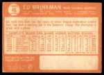 1964 Topps #46  Ed Brinkman  Back Thumbnail