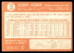 1964 Topps #22  Jerry Adair  Back Thumbnail