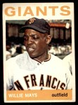1964 Topps #150  Willie Mays  Front Thumbnail