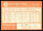 1964 Topps #468  Gaylord Perry  Back Thumbnail