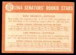 1964 Topps #167   -  Lou Piniella / Mike Brumley Senators Rookies Back Thumbnail