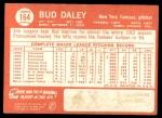 1964 Topps #164  Bud Daley  Back Thumbnail