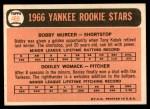 1966 Topps #469   -  Bobby Murcer / Dooley Womack Yankees Rookies Back Thumbnail