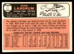 1966 Topps #43 SHW Don Landrum  Back Thumbnail