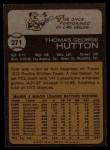 1973 Topps #271  Tom Hutton  Back Thumbnail